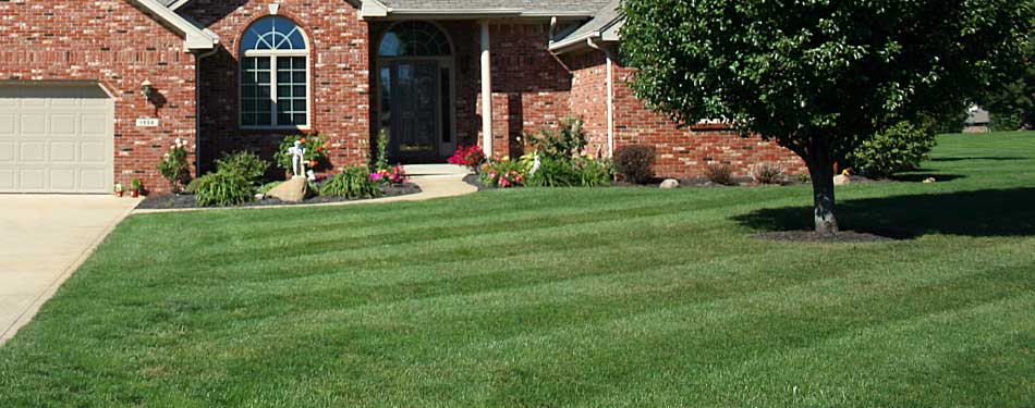 Recently mowed residential property by Emerald Outdoor, LLC in Jackson County, MI