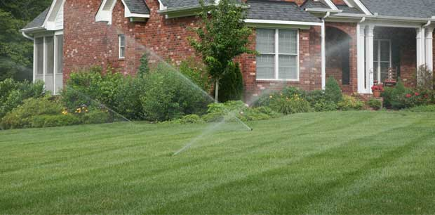 Sprinkler system testing at a property in Clarklake, MI.